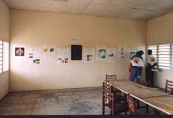 Omboué, Gabon, archaeology exhibition in the local high school, copywright B.Clist